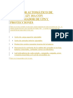 Cargador Automático de Baterías 12v 10a y Protecciones
