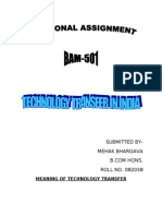 Technology Transfer in India