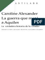 Alexander Caroline - La Guerra Que Mato a Aquiles