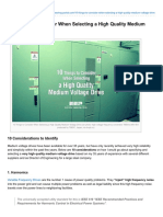 10 Things to Consider When Selecting a High Quality Medium Voltage Drive