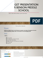 budget presentation for benson middle school