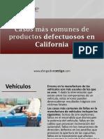 AbogadoContigo - Casos Más Comunes de Productos Defectuosos en California