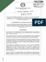 Decreto 412 Del 07 de Marzo de 2016
