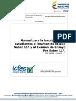 Manual Inscripcion Estudiantes Pre Saber 11 - Saber 11 - Para Colegios