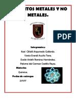 Elementos Metales y No Metales