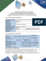 Guía de Actividades y Rubrica de Evaluación - Fase 2 - Fundamentos de Ingeniería, Evaluación de Proyectos