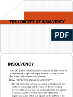 The Concept of Insolvency