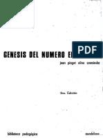 Piaget. Génesis Del Número en El Niño (1)