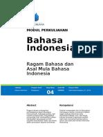 4. Ragam Bahasa Dan Asal Mula Bahasa Indonesia