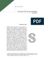 Elster_En Favor de Los Mecanismos_2005