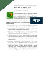 Declaración de Buenos Aires (05 09 10)