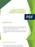 Evaluación Dental y Desarrollo Del Plan de Tratamiento