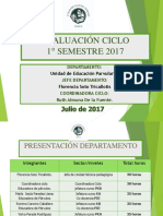 EVALUACIÓN   1° SEMESTRE CICLO 2017 3333
