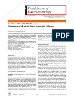 Management of Portal Hypertension in Children
