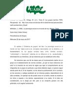 Reporte Lectura - Cap Dinamica de Grupos