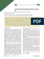 Elemental Analysis of Crude Oils