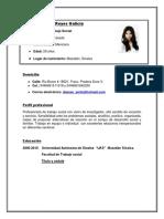 Curriculum Nuevo Perla Berenice Bu