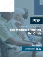 WAITING for HELP the Medicaid Waiting List Crisis