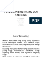 Pembuatan Bioethanol Dari Singkong