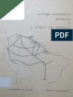 Zoologia Sistemática Geografia e a Origem Das Espécies