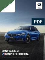 Ficha Técnica BMW 340iA M Sport Edition 2018.