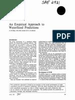 An Empirical Approach Waterflood Predictions