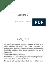 Lecture 9.0 - Statistics