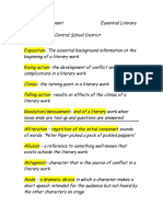 Literary Terms--Official List (Alphabetized)