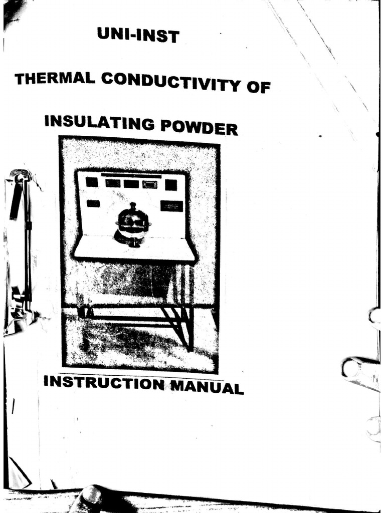 Thermal Conductivity of Insulating Powder experiment lab