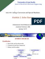 Module 2 Solar Energy