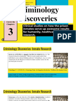 Criminology Discoveries_ Clinical Studies on How the Prison Inmates Serve Up Awesome Results for Humanity, Healthcare, And Research