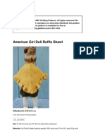 1231 American Girl Doll Ruffle Shawl Pattern