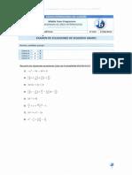 Examen Ecuaciones Segundo Grado Resuelto