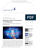Blockchain's Role in Procurement is Just Beginning - The Strategic Sourceror