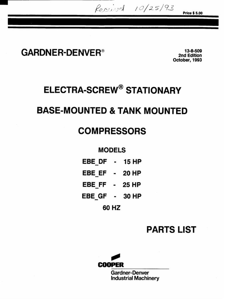 Gardner Denver Motor Wiring Diagrams - Wiring Diagram Table on