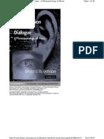 ELLIS BENSON, BRUCE. the Improvisation of Musical Dialogue