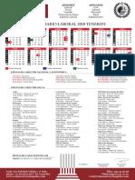 Calendario Laboral 2018 Tenerife