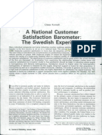 A National Ciustomer Barometer