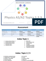 2015 Physics as Revision Cards Paper 1 as NEW