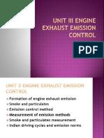 Unit III Engine Exhaust Emission Control
