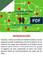 Los Sistemas de Juego (El Mister de Futbol Mundial)