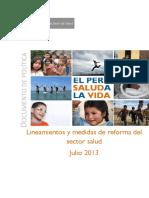 Lineamiento de La Reforma de Salud
