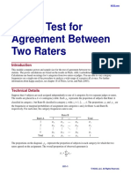 Kappa Test for Agreement Between Two Raters