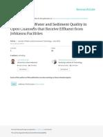 EvaluationofwaterandsedimentqualityinopenchannelsthatreceiveeffluentfromJohkasoufacilities