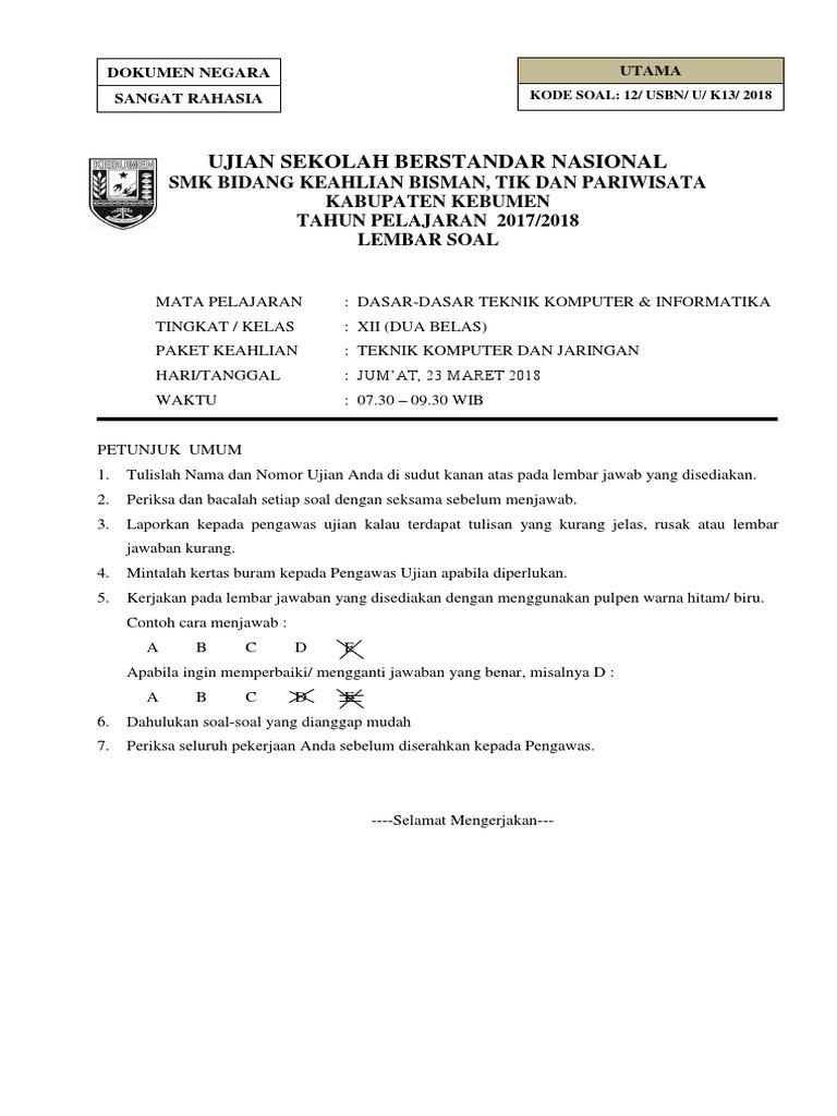 Soal Ujian Akuntansi Smk 2018 Helmi Kediris