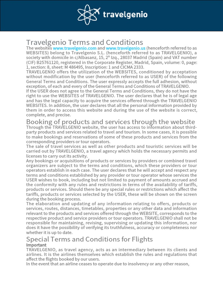 Travelgenio Terms and Conditions (1) | Http Cookie | Debit Card