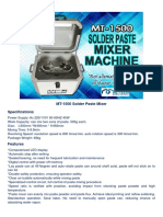 mt-1500 solder paste mixer machine specs and features