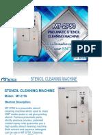 mt-2750 pneumatic stencil cleaning machine