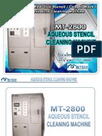 mt-2800 aqueous stencil cleaning machine