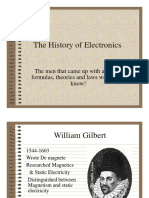 History of Electronics Electricity